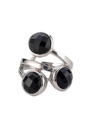 agata onyx stainless steel ring