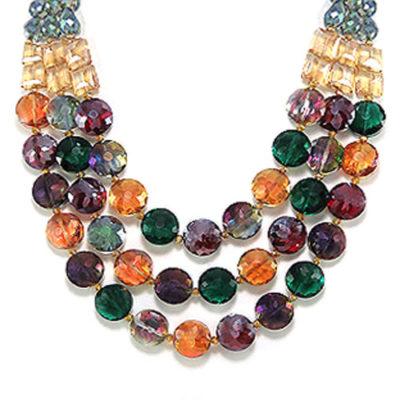 calypso multicolor statement necklace
