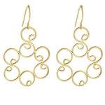 camellia gold earrings