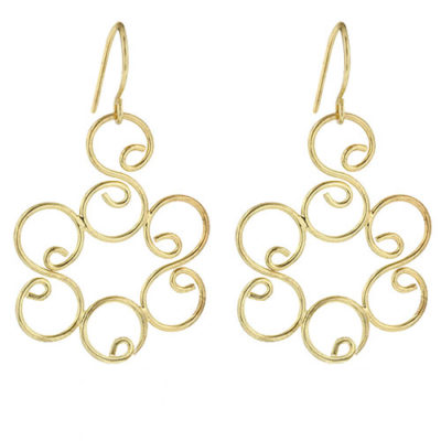 camellia gold earrings
