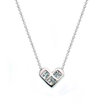 princess heart bridal necklace