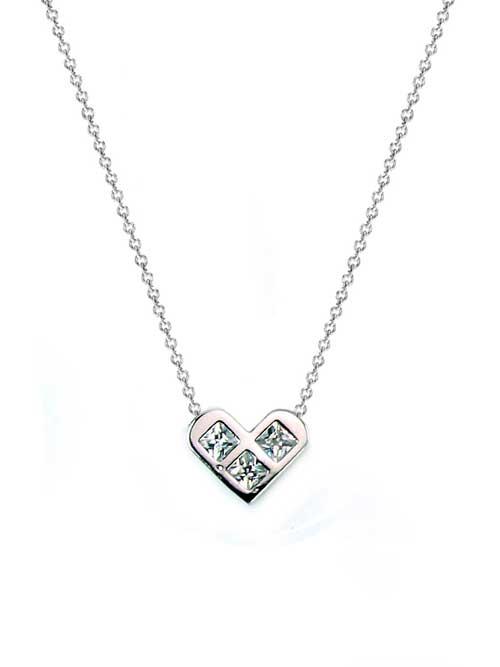 princess heart bridal necklace