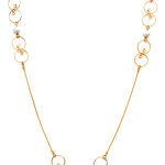 Linda long gold pearl necklace