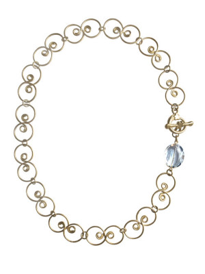 alma and co matte gold elle statement necklace