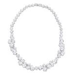 Gala cz platinum silver statement necklace