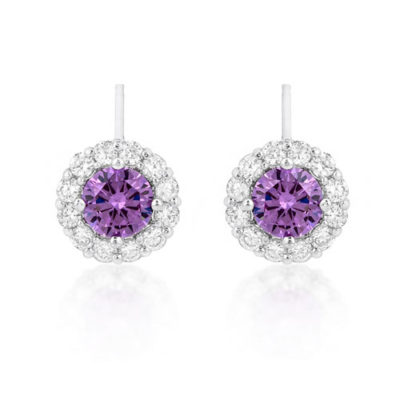 alli sterling silver cz stud earrings