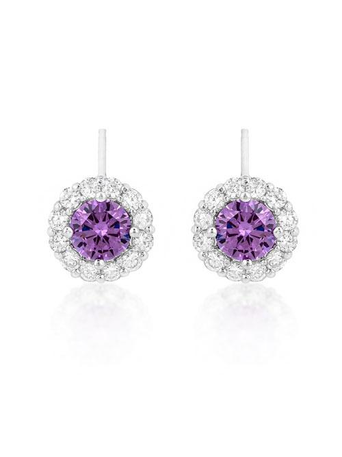 alli sterling silver cz stud earrings