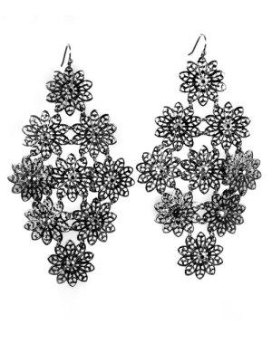 Alma & Co. Jenna Earrings. Black statement lace drop earrings