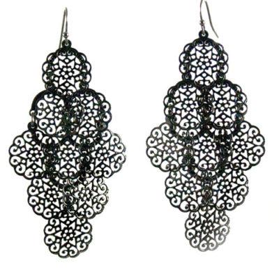 Alma & Co. Eva filigrine black earrings