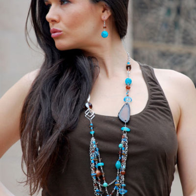 alma and co winter blue long necklace