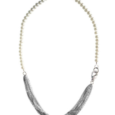 alma and co andrea pearls and chains necklace