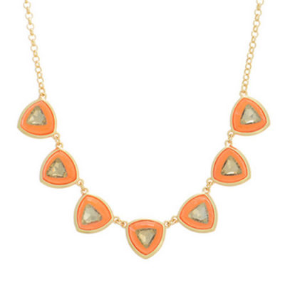alma and co gold and orange statement necklace