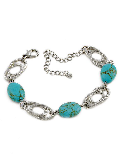 alma and co turquoise and silver bracelet