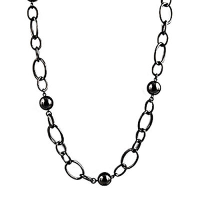 alma and co black chain links statement necklace