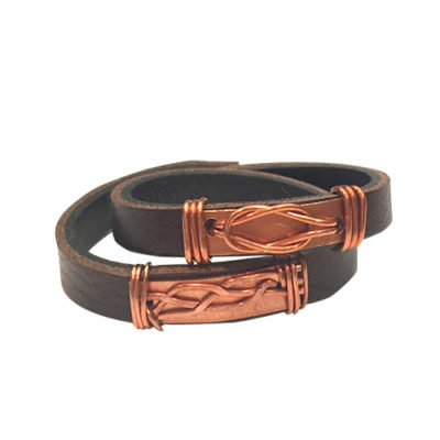 alma and co celtic love knot wrap bracelet by belt & wire