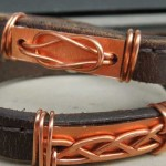celtic love knot wrap bracelet by belt & wire for alma and co