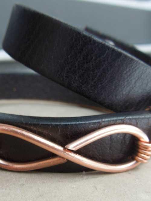 infinity leather bracelet