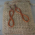 infinity copper earrings for alma and co