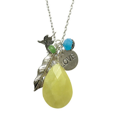 alma and co long silver necklace
