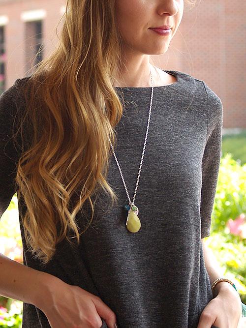 Alma & Co. kendra long silver necklace