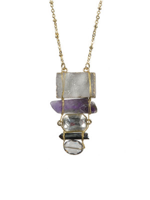 Alma & Co. Violet amethyst necklace. Long necklace