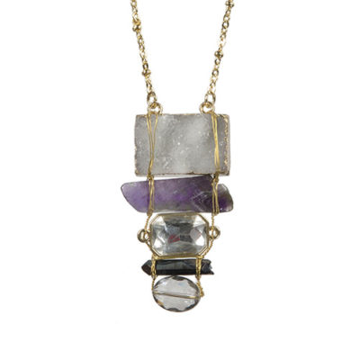 Alma & Co. Violet amethyst necklace. Long necklace