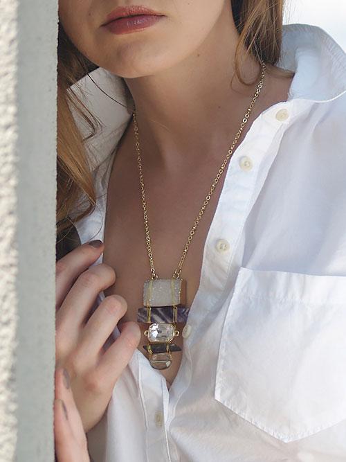 Alma & Co. Violet Amethyst Necklace