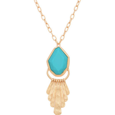 Alma & Co. long turquoise necklace