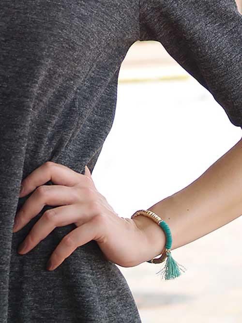 Alma & Co. Zoe Tassel Bracelet