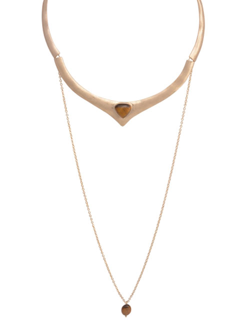 alma and co free spirit gold chocker necklace