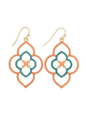 alma and co jody peach and green earrings