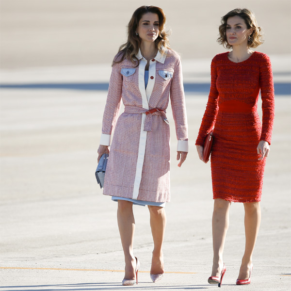 fashion of royalty queen rania and letizia
